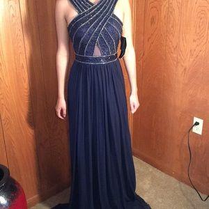 Sherri Hill navy dress
